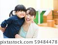 工作的媽媽和孩子 59484478