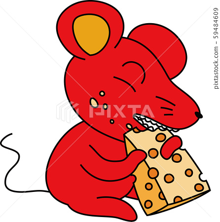 Mouse cute character child year new year 59484609