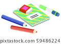 Stationery for School and Work, Notebook and Pen 59486224