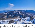 冬天從長野縣立立山的山頂往東南看(八岳,金峰山,國嶽山) 59489673
