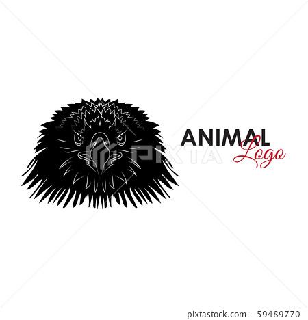 Head Eagle icon logo symbol vector illustration 59489770