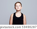 Portrait of Child. Funny Kid with blue eyes 59490287