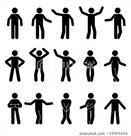 Stick Figure Man Standing Front View Different Stock Illustration 59495056 Pixta All png & cliparts images on nicepng are best quality. https www pixtastock com illustration 59495056