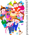 Birthday party, clean background 59498097