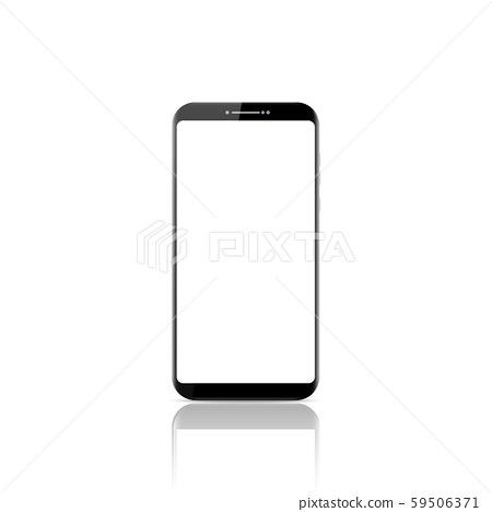 New realistic mobile smart phone modern style. Vector smartphone isolated on white background. 59506371
