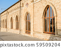 Facade of beautiful brick ancient wine chalet 59509204