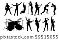 Rock or Pop Band Musicians Silhouettes 59515055