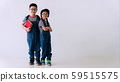 Cheerful brother and sister wear eyeglasses 59515575