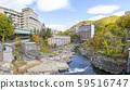 Jozankei hot spring town in autumn 59516747