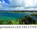 秋天的冲绳美丽的大海古里岛八ga岛三角点 59517706