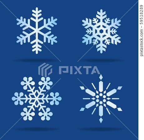 雪花圖標集 59518289