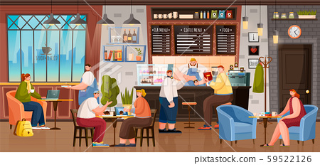 Coffee House Inside, People Drinking Beverages 59522126