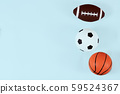 sport, fitness, game, sports equipment and objects concept 59524367