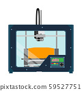 3D printer equipment industrial device tool. Flat 59527751