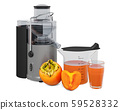 Persimmon juice with electric juicer 59528332