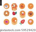 Set of pancakes 59529420