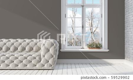 Modern bright interior . 3D rendering 59529902