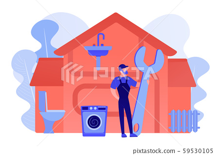 Plumber services concept vector illustration 59530105