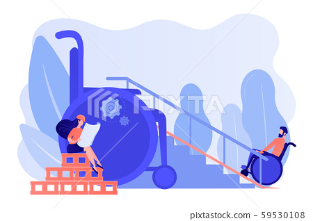 Accessible environment designing concept vector illustration 59530108