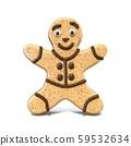 Gingerbread man 3D 59532634