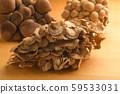 Three kinds of mushrooms Shimeji Maiko Marbled Hiraiso 59533031