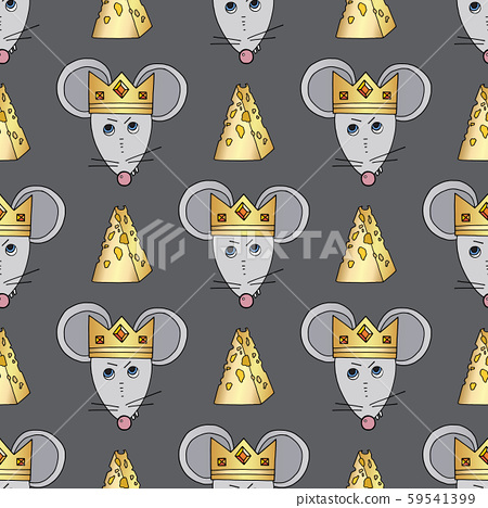 Rat Character Vector Seamless Pattern Mouse Stock Illustration 59541399 Pixta Little girls rats crown nutcracker cartoons. pixta