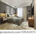3d rendering beautiful loft minimal vintage bedroom 59542073