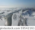 秋田縣大仙縣玉川市,中仙地區冬季鳥瞰圖 59542161