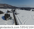 Aerial view of winter in Nakasen area, Daisen City, Akita Prefecture 59542164