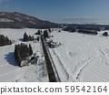 秋田縣大仙市中山地區冬季鳥瞰圖 59542164
