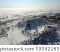 Daisen City, Akita Prefecture Winter aerial view of the Nakasen area Yaotome Park 59542165