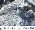 秋田縣大仙市中山地區八音公園冬季鳥瞰圖 59542166