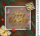 Christmas background with Christmas elements 59542896