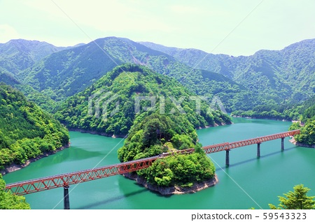 시즈오카 현 오쿠 오오이 호수에 역 59543323