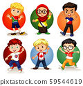 Six children from different countries 59544619