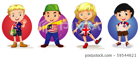 Many kids from four countries 59544621