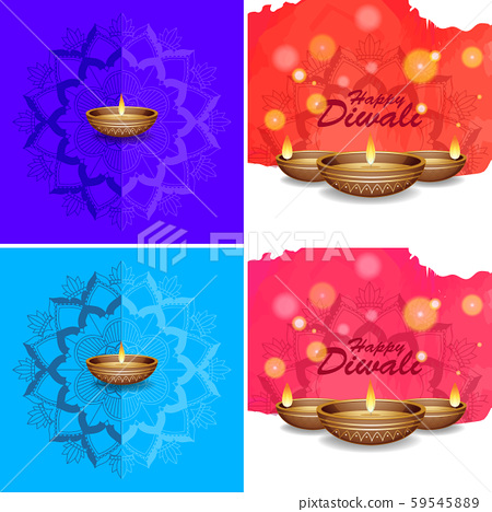 Background template with mandala designs 59545889