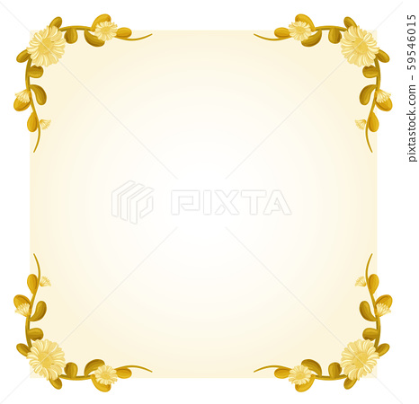 Background template with yellow flowers frame 59546015