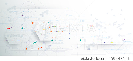 Vector banner design circuit board. Illustration Abstract modern futuristic, engineering, technology background. Futuristic digital science technology concept for web banner template or brochure 59547511