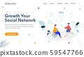 Creative Social Network website template designs. Vector illustration concepts of web page design for website and mobile website development. Easy to edit and customize. 59547766