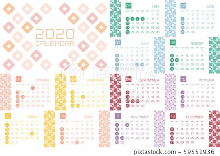 2020日本现代日历 59551936