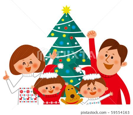 크리스마스 가족 59554163
