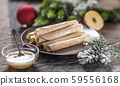Wafers rolled with honey. Traditional slovak and 59556168