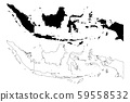 Indonesia map vector 59558532