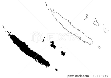 New Caledonia map vector 59558535