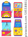 Set of Colorful Game Machines, Arcades Vector 59558801