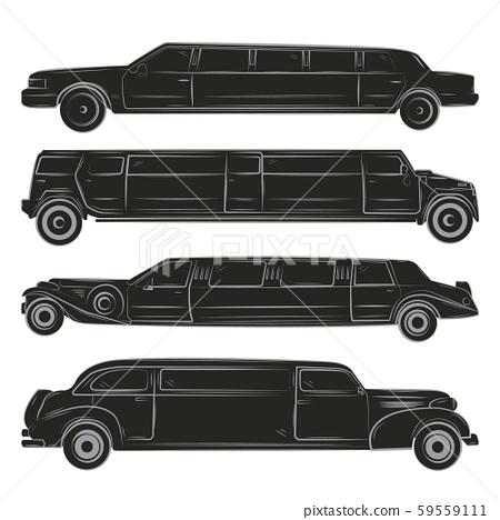 black limousines set 59559111