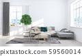 Living room interior in scandinavian style . 3D rendering 59560014