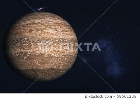 Rock brown dead planet somewhere in deep space 59561238