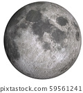 Visible side of the moon isolated 59561241